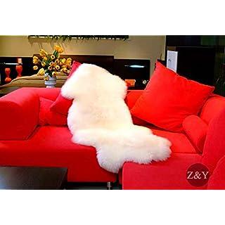 Aegis (TM) Echtes Australian Single Fell Groß Schaffell Teppich Elfenbein, weiß, 2 X 3.5