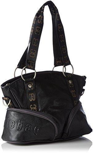 Poodlebag Helgoland 3GC0815HELGBB Damen Shopper 44x36x13 cm (B x H x T) Schwarz (Black)