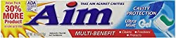 2 Pack - AIM Cavity Protection Gel Mint Toothpaste 6 oz Each