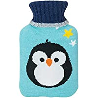 The Hot Water Bottle Shop Wärmflasche mit blauem Pinguin-Strickbezug, Kinderkollektion preisvergleich bei billige-tabletten.eu