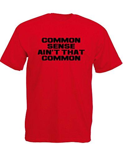 Brand88 - Brand88 - Ain't That Common, Mann Gedruckt T-Shirt Rote/Schwarz