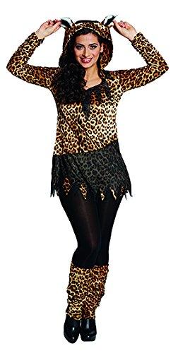 Kostüm Paar Leopard - Leoparden Dame Lulu Damenkostüm-Damen 50
