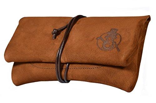 Tabaktasche SEÑOR BOBO mit Filterfach - handgemachte Manufaktur-Qualität aus Bayern - echtes Nubuk-Leder - Tabakbeutel Drehertasche (Leder Nachricht Taschen Für Männer)