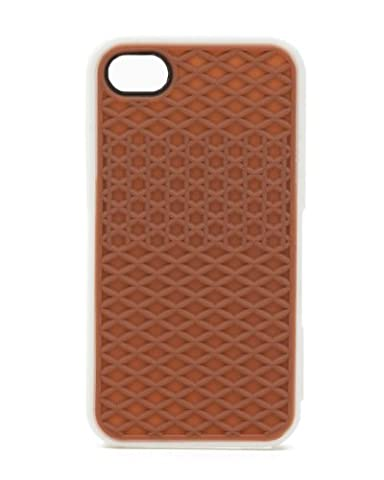 HJX Brown (White Edge) iphone 5 Fashion Vans Sneaker Shoe Tread White Pink Case Rubber Skin Protective Cover For Apple iphone 5 5G 5th