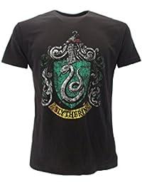 T-Shirt SLYTHERIN Haus Symbol WAFFEN Harry Potter - 100% Offiziell WARNER BROS