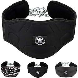 Geez Cinturón de inmersión con cadena de atletas para atletas I Cinturón de inmersión para peso adicional para pull-up o dips