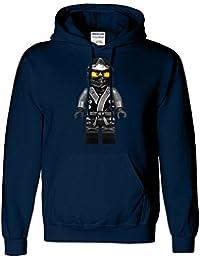 LEGO NINJAGO Mens drôle NINJA Figure Sweat à capuche Inspiré
