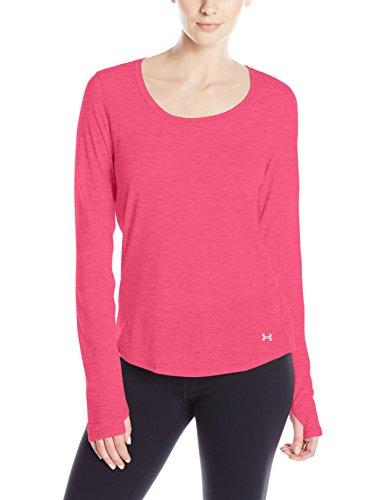 Under Armour Damen Running Shirt Langarm Charged NLS Long Sleeve Pink Sky/Reflective