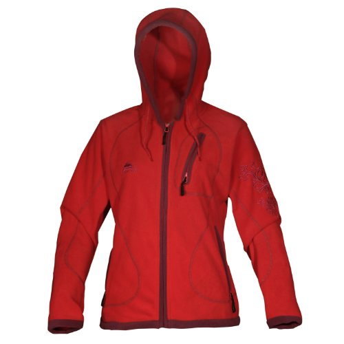 COX SWAIN Damen FLEECE Outdoor Jacke Alice - 3 Farben - mit Kaputze, Colour: Red, Size: XL