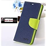 Joy Premium Cover's For Sony Xperia Z3 + ( Z4 ) Flip Cover Mercury Diary Wallet Case ( Blue & Green )