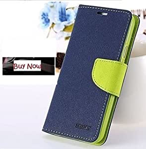 Joy Premium Cover's For Samsung Galaxy Premier 9262/9260 Flip Cover Mercury Diary Wallet Case ( Blue & Green )