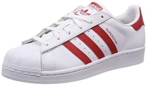 adidas Unisex-Erwachsene Superstar Fitnessschuhe, Weiß (Ftwbla Escarl 000), 38 2/3 EU