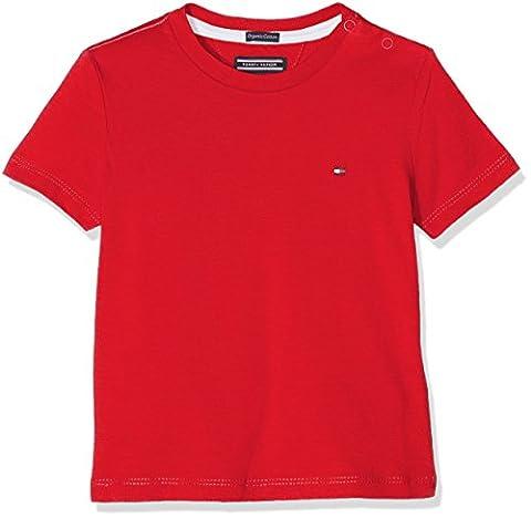 Tommy Hilfiger Jungen T-Shirt Ame Original CN Tee S/S, Rot (Mars Red 699), 122 (Herstellergröße: 7)
