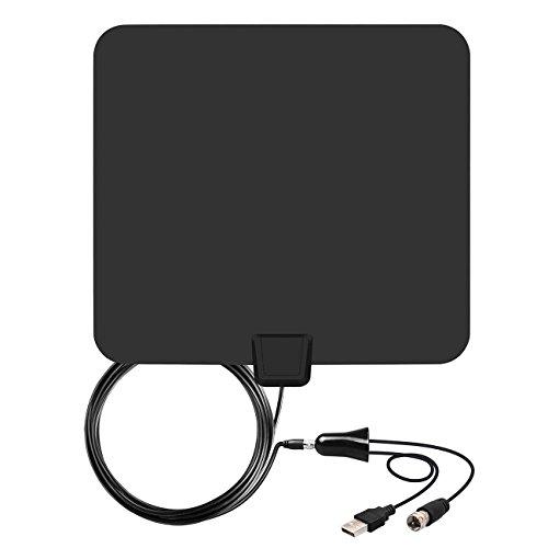 Antenne TV HD TV numérique HD compatible 4K 1080P 85 Miles 75 Mile gris
