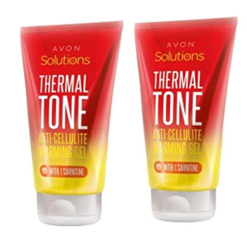 2 Stück Avon Solutions Thermal Tone Anti-Cellulite Warming Gel mit L-Carnitin 2x 150ml Tube