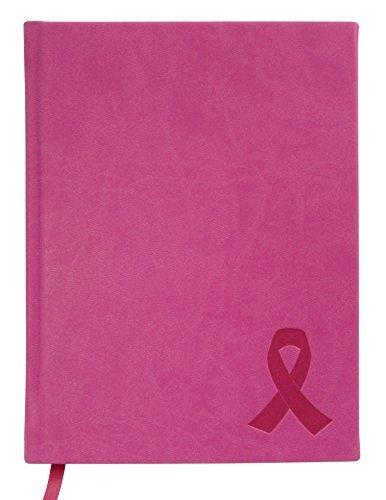 BookFactory Brustkrebs Tagebuch/Pink Breast Cancer Awareness Notebook 168linierte Seiten Papier 15,2x 20,3cm Soft Touch Kunstleder Cover, natürlicher Klang (jou-168-68rs-a (BREASTCANCER)) - Papier 60 Lb