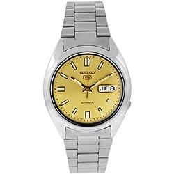 Seiko Men's SNXS81K Seiko 5 Automatic Gold Dial Stainless Steel Watch