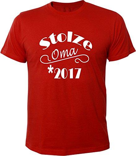 Mister Merchandise Herren Men T-Shirt Stolze Oma 2017 Tee Shirt bedruckt Rot
