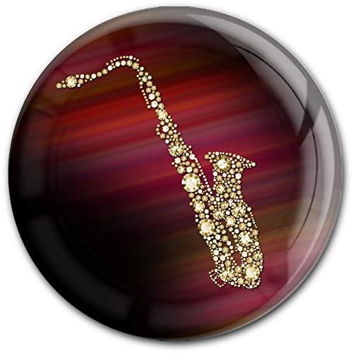 metALUm runder Acrylmagnet mit starkem Neodym - Magnet Saxophon #1301123