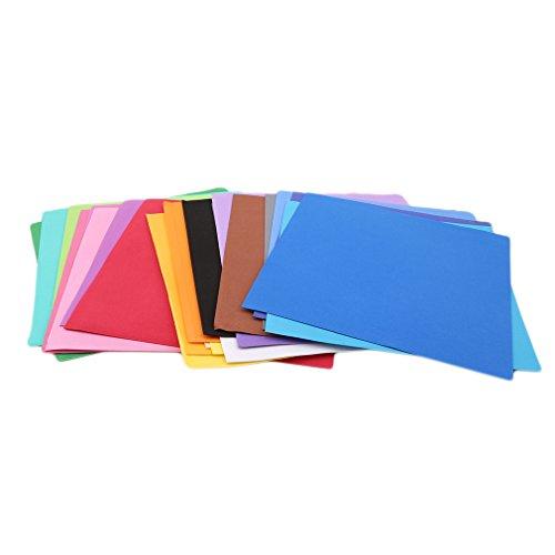 CanVivi 24 pcs Origami Papier Schwamm Falten Scrapbooking Papier Handwerk DIY Karte Decor