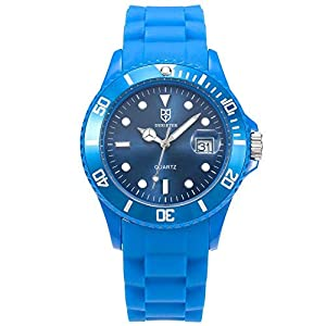 DR8990Silikon-Kunststoff-Quarz-Uhr-Armband, Unisex, wasserdicht.