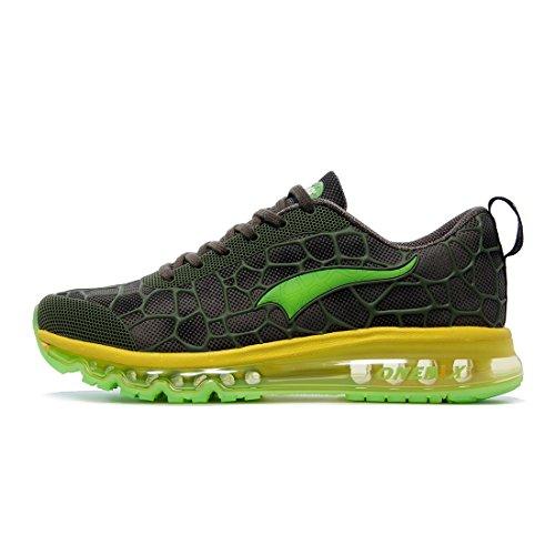 Onemix Mens Scarpe Da Corsa Cuscino Daria Scarpe Sportive Sneakers Facili Sneaker Di Buona Qualità Nero Rosso Verde Blu Verde / Giallo