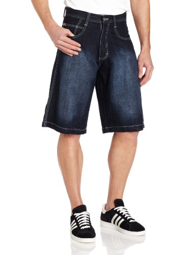 Southpole Men's Big-Tall 4180 Sand Washed Denim Short In Relaxed Fit, Dark Sand Blue, 44 -