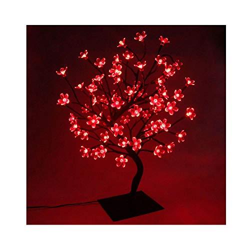 Albero luminoso decorativo lampada fiori di ciliegio con 72 luci natalizie a led, tavolo luce bonsai, per decorazione della casa, festa di natale, decorazione del matrimonio, compleanno, interno