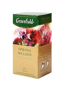 Greenfield Thé Noir, Ressort Melody, 25 sachets de thé dans une boîte