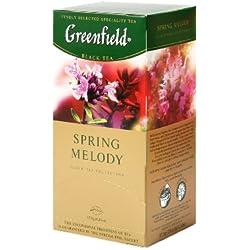 Greenfield Schwarzer Tee, Feder Melody, 25 Teebeutel in einer Box