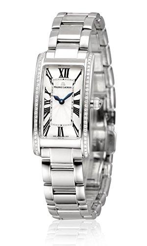 Maurice Lacroix Fiaba Ladies Rectangular Quartz Uhr, Silber, FA2164-SD532-118-1
