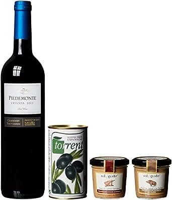 """Geschenkset Präsent """"España Mi Amor"""" Cabernet Sauvignon Trocken (1 x 0.75 l, 2 x 100 g, 1 x 350 g)"""