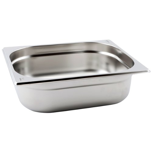 Edelstahl 1/2Gastronorm Container 100mm Pfanne tief, Catering, Bain Marie,-Lebensmittel Pfannen Bain Marie Container