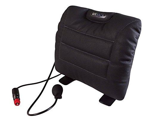 Sitback Air + Heizung universales Rückenstützkissen, Leder schwarz -