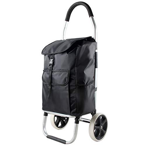 RTTgv Einkaufstrolleys Tragbare Radverschönerung des Einkaufswagens und der beweglichen zusätzlichen Tasche des Einkaufskorbs (Farbe : B)
