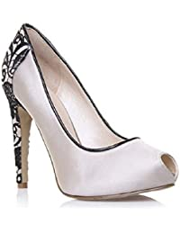 Nine West - Zapatos de vestir para mujer Nude / Black 35 (3 UK)