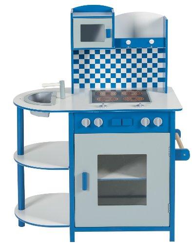 Preisvergleich Produktbild Impag® Kinderküche Spielküche Holzküche 100 x 70 x 40 cm Quadro (Blau)