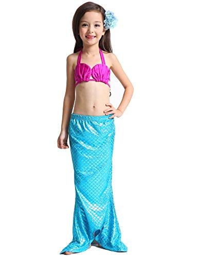 Das beste Mädchen Badeanzug Meerjungfrau Schwanz Bademode Bikini Set Kleinkind Bade Kostüm 3tlg. Muschel (50er Kostüme Mädchen Jahre Kleinkind)