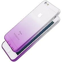 Pridot Gradient Colour TPU Funda Case for iPhone 6s / 6 Ultra Thin Carcasa Anti Slip Soft Bumper Scratch Resistant Back Cover Crystal Clear Flexible Silicone Case - Uva Violeta