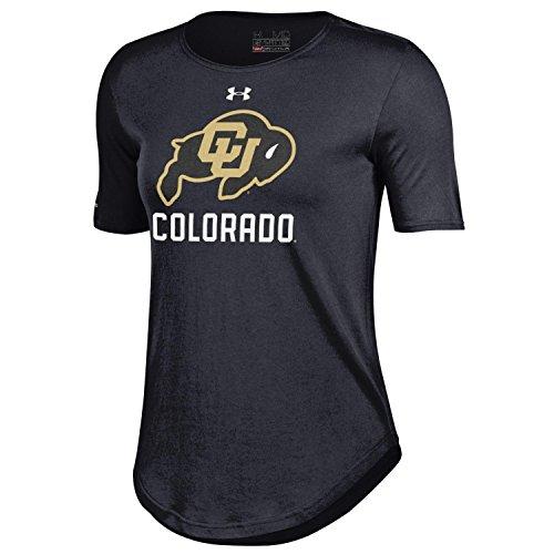 Under Armour Damen NCAA Short Sleeve 60/40Performance Tee, Damen, Short Sleeve 60/40 Performance Tee, schwarz - Gear Performance Tee
