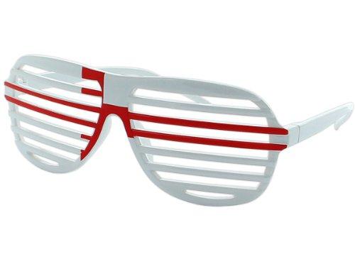 Alsino Shutter Shades Fanbrille Länderbrille Flaggenbrille V-820, Farbe wählen:England