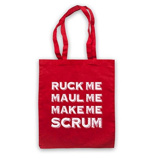 Ruck Me Maul Me Make Me mischia Rugby borsa custodia Rosso