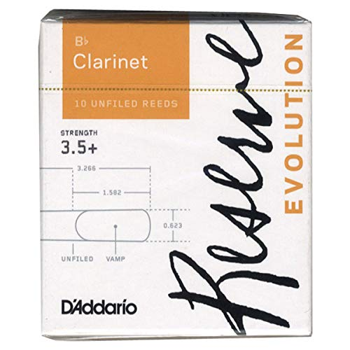 D'Addario Reserve Evolution - Ance per clarinetto in Sib, durezza 3.5+; confezione da 10