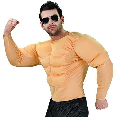 Kostüm Muskeln - SEA HARE Erwachsenes Bodybuilder Muskel-Kostüm der Männer