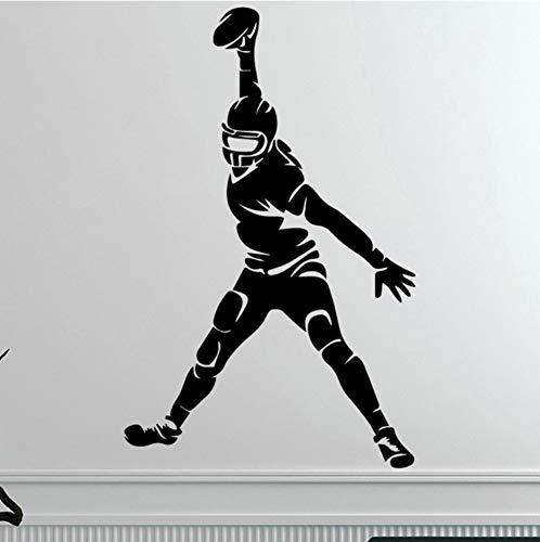 Kreative Rugby Piayer Wandaufkleber für Wohnkultur Wohnzimmer Jungen Zubehör Aufkleber Wasserdichte Vinyl Kunst Aufkleber 43x68cm