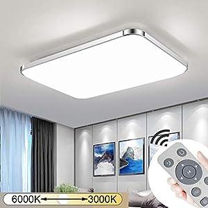 JINPIKER 72W Dimmbare LED Deckenleuchte Energieeinsparung Flur Deckenleuchten Wohnzimmer Küche Badleuchte Umweltschutz LED Deckenlampe