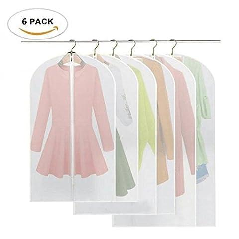 6 Stücke Kleidersack - inkl. 2 von 60*100cm und 60*120cm bzw. 60*137cm Anzugsack Kleiderhülle Anzughülle aus atmungsaktivem Material - erstklassiger Schutz für Ihre Anzüge und