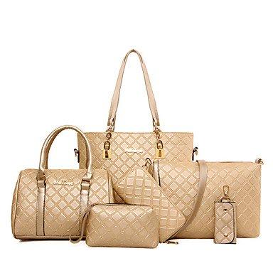 La donna pu canna borsa a tracolla / Tote / Cartella / frizione / Wallet-White / blu / Oro / marrone / nero,blu Gold