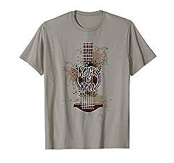 Rock´n´Roll Gitarren Vintage Style T-Shirt