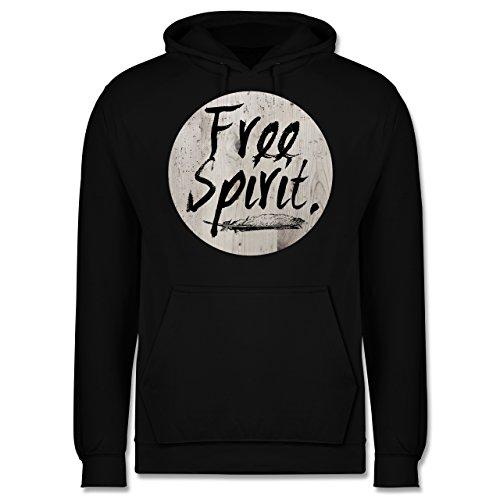 Statement Shirts - Free Spirit - Männer Premium Kapuzenpullover / Hoodie Schwarz